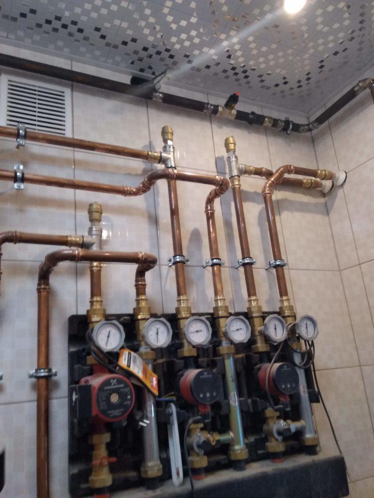 Система распределения газового котла