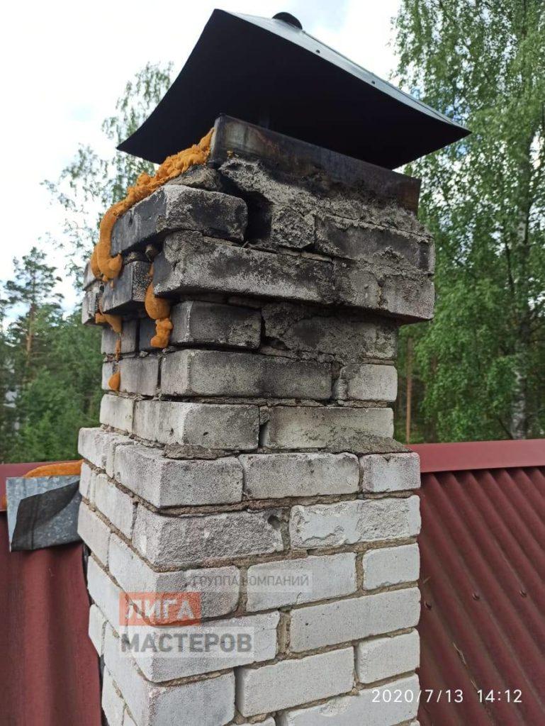 ремонт кирпичного дымохода