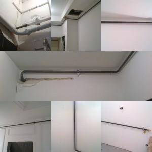Монтаж нового газопровода в квартире во время ремонта